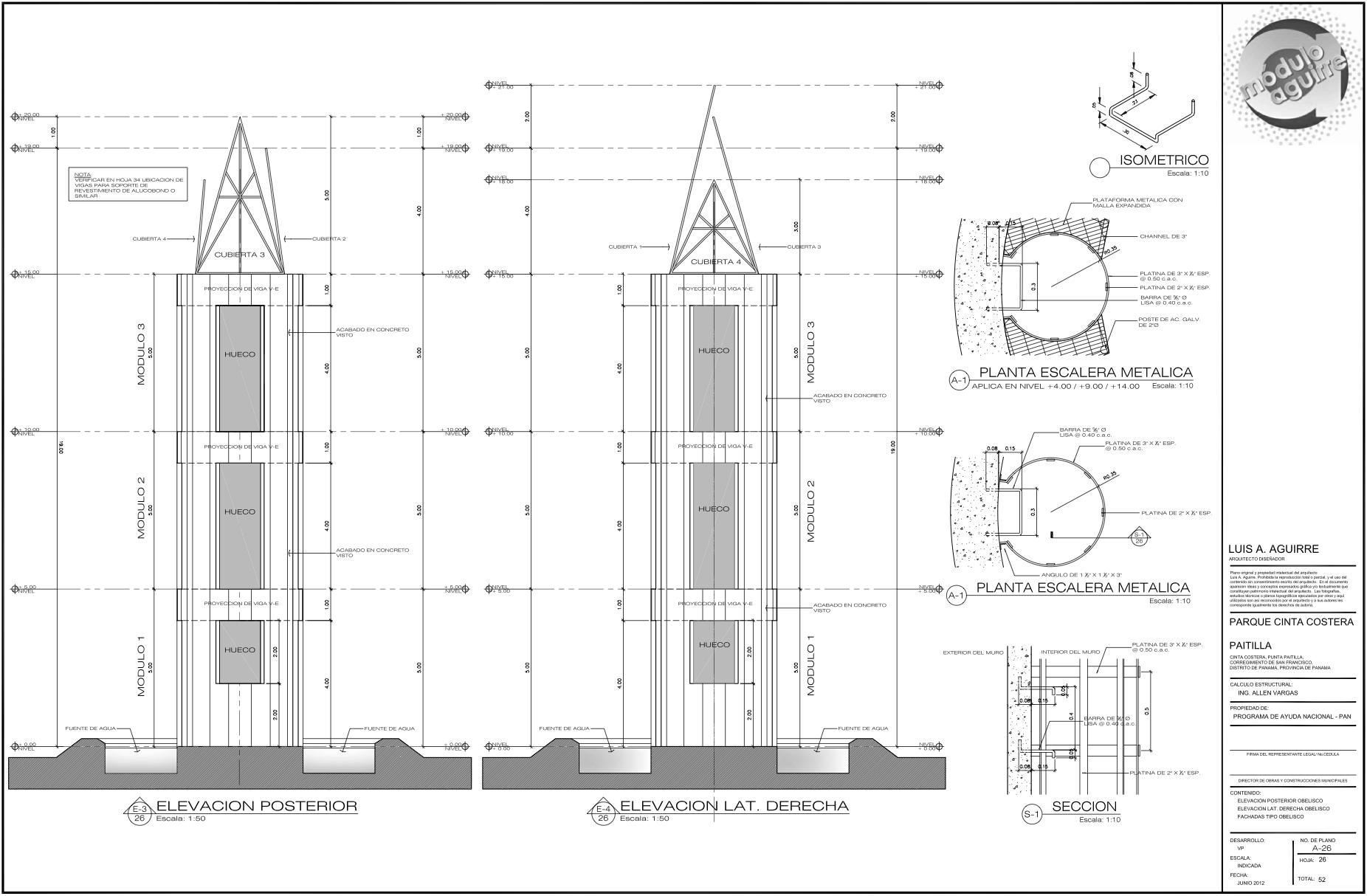 Relleno arquitecto paname o for Pie de plano arquitectonico pdf