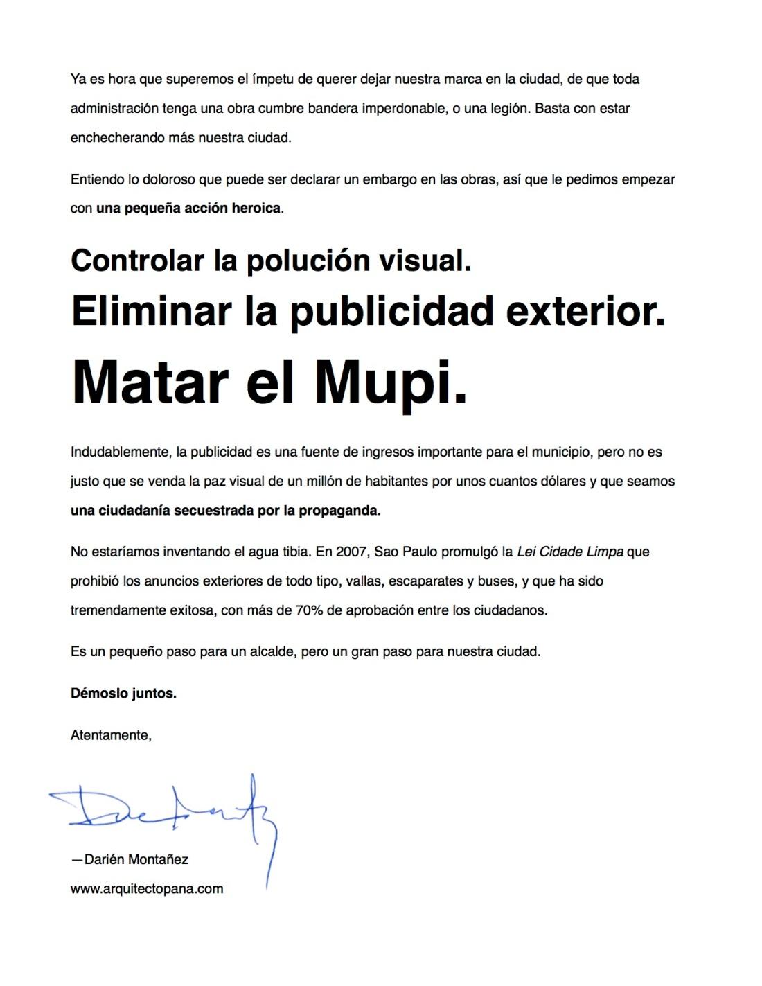 carta al alcalde darien 2